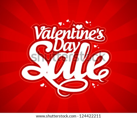 Valentine`s day sale design template