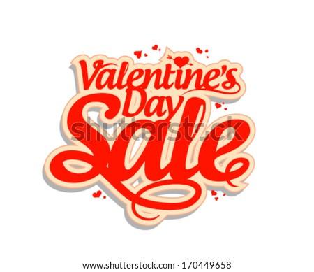 valentines day sale design template