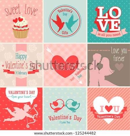 valentine s day set   greeting