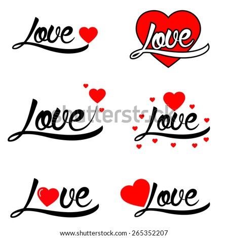 valentine's day set of