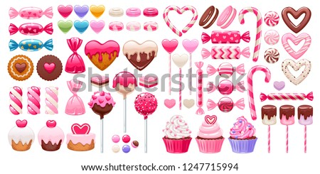 valentine's day sweets set