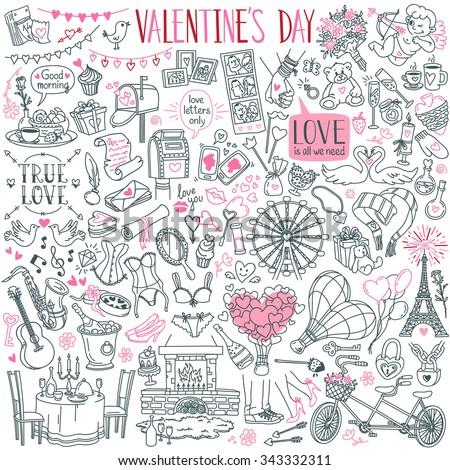 valentine's day theme doodle