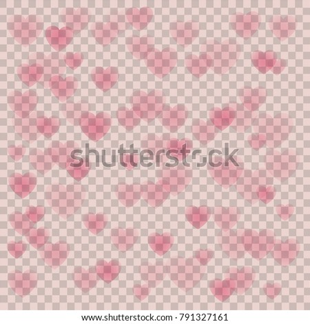 Valentine S Day Transparent Background With Shape Hearts Ez Canvas