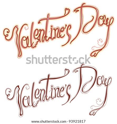 Valentine's Day type text.