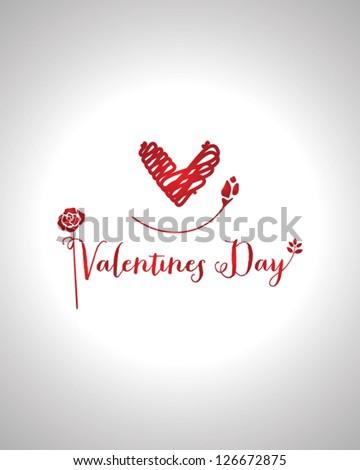 Valentine's Day type text EPS 10