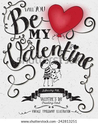 valentine's day typography art