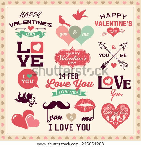 Valentines Day Vector Labels Download Free Vector Art – Valentine Day Label