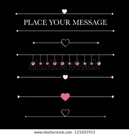 Valentine`s Day vector design elements