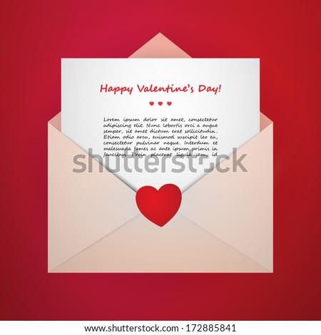 valentine's day vector envelope