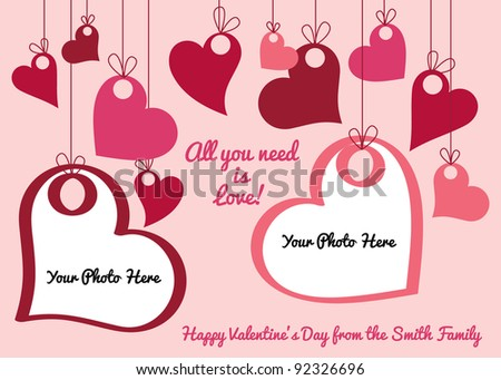 Valentine's Day Vector Photo Card