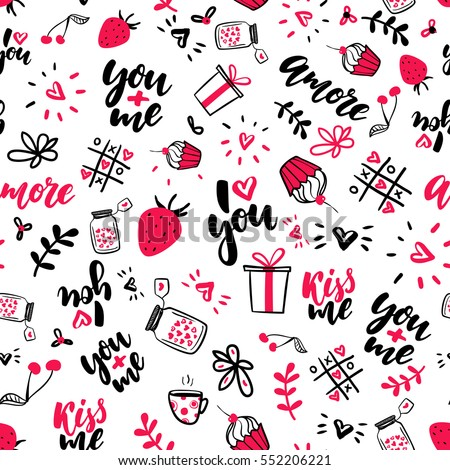 valentine s day vector seamless