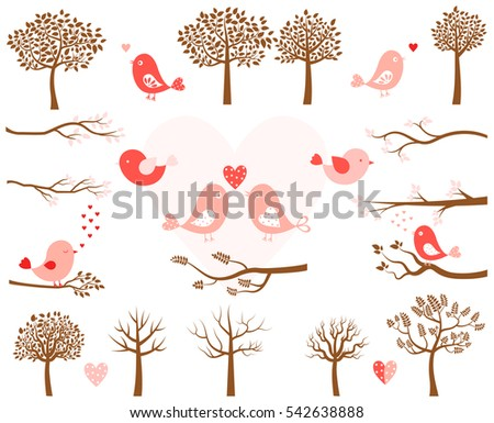 valentine's day vector set with
