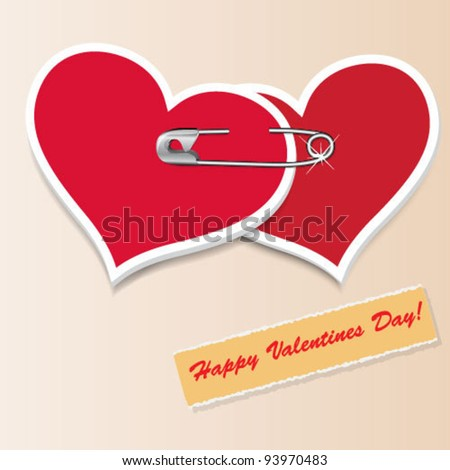 Valentine`s Day vintage hearts