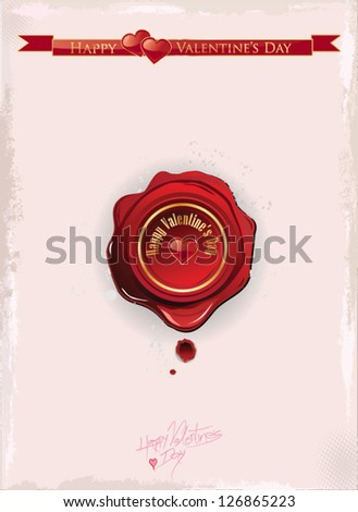 Valentine's day wax seal