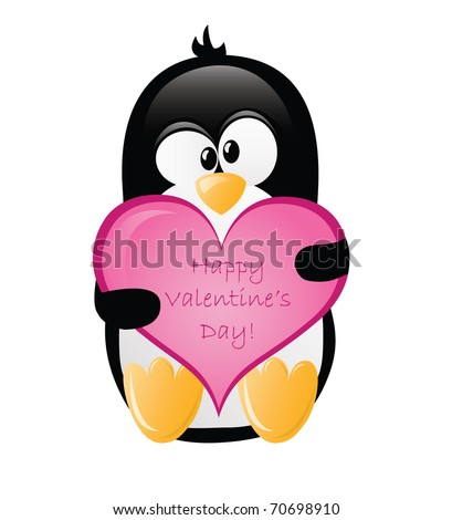 Valentine's Greeting Penguin