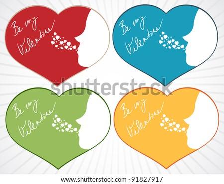 valentine s multicolor hearts