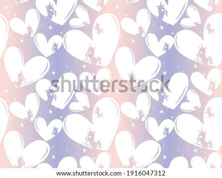 valentine seamless pattern with
