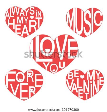 valentine set i love you