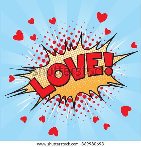 valentine style pop art icon