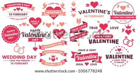 Valentine template banner Vector background for banner, poster, flyer