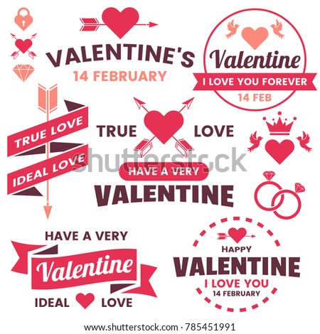 Valentine template banner Vector background for banner, poster, flyer #785451991
