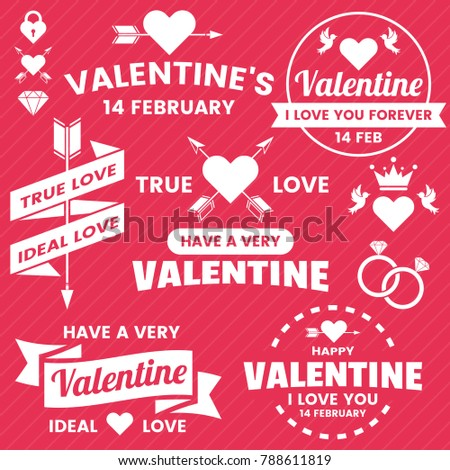 Valentine template banner Vector background for banner, poster, flyer #788611819