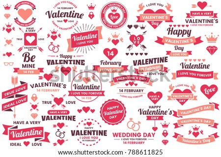 Valentine template banner Vector background for banner, poster, flyer