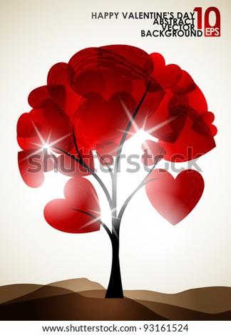 valentine tree  abstract