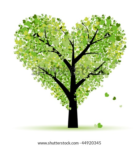 valentine tree  love  leaf from
