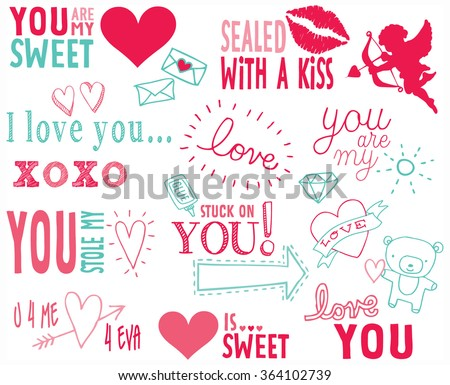 Valentine Word Art