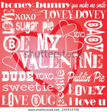 valentine words background paper