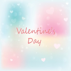 Valentines background. Abstract hearts bokeh as background Valentine day