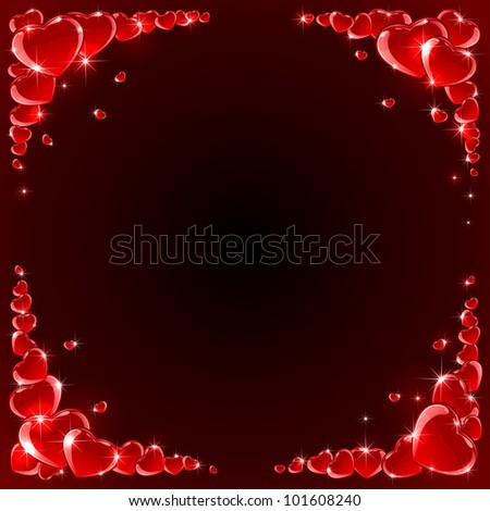 Valentines background with Hearts, illustration