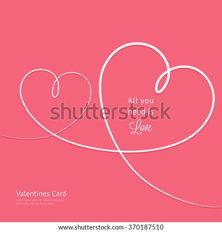 valentines card with line