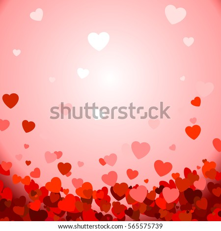 Valentines composition of the hearts. Vector background #565575739