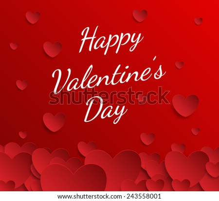 Valentines Day abstract background. Vector illustration eps 10 #243558001