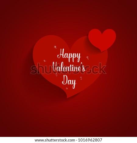 Valentines day background design. Vector illustration. #1016962807