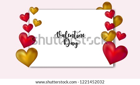 Valentines day background with balloons heart. Vector illustration. Wallpaper, flyers, invitation, posters, brochure, banners. #1221452032