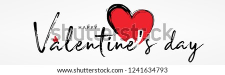 Valentines day background with  heart pattern and typography of happy valentines day text . Vector illustration. Wallpaper, flyers, invitation, posters, brochure, banners.  Stockfoto ©