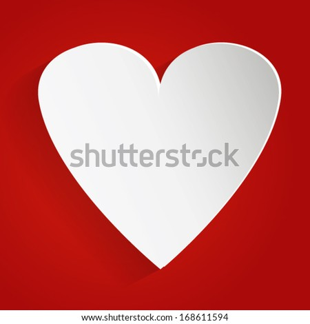 Valentines Day background with sticky in heart