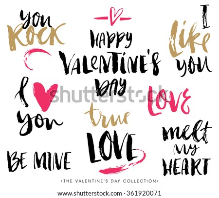 valentines day calligraphic