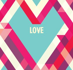 Valentines day card/ Abstract web design/vector/wallpaper background/ love/ Heart