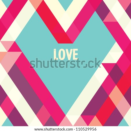 Stock Photo Valentines day card/ Abstract web design/vector/wallpaper background/ love/ Heart