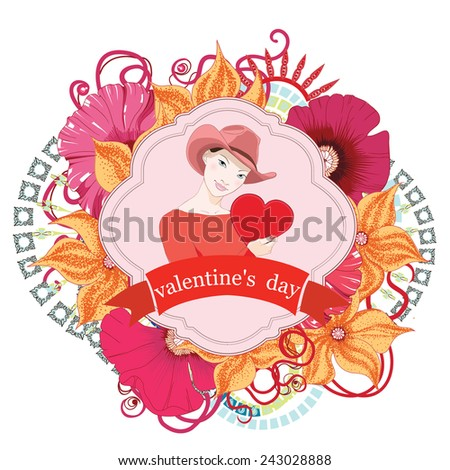 Valentines day card. Vector #243028888