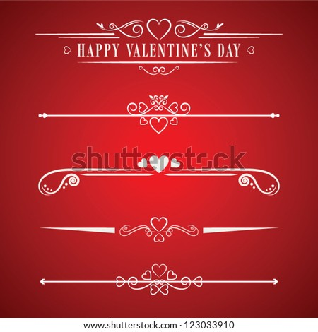 Valentines day design decorative vector elements