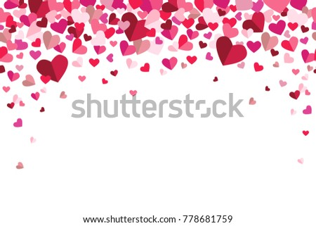 Valentines Day Floating Hearts Repeating Vector Background 1