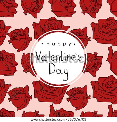 valentines day floral pattern