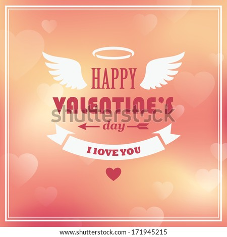 valentines day greeting card on