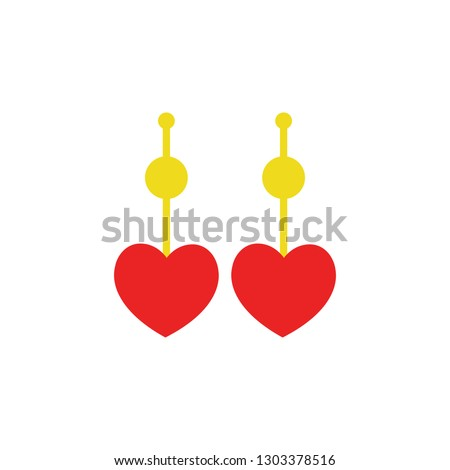 Valentines day heart earings icon. Element of Web Valentine day icon for mobile concept and web apps. Detailed Valentines day heart earings icon can be used for web and mobile