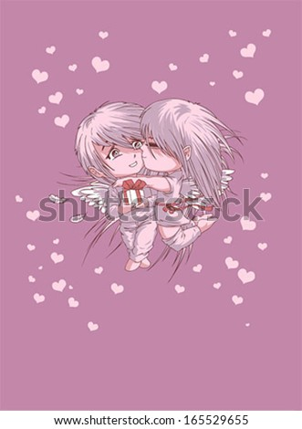 valentines day kiss vector card